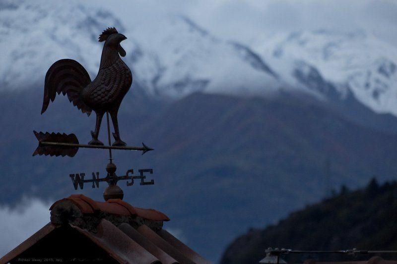 Италия, Альпы, горы, снег, зима, Флюгер Альпийский флюгерphoto preview