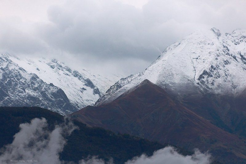 Италия, Альпы, горы, снег, осень, первый снег, Альпыphoto preview