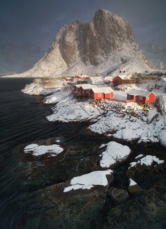 норвегия, лофотены, хамной, norway, lofoten. hamnoy Зимний вечер на Лофотенахphoto preview