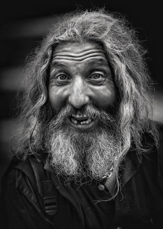 Портрет, лица, жанровый портрет, Roman Mordashev photography, Черно белая фотография Цыган photo preview