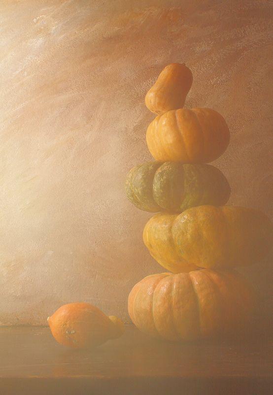 тыквы, продукты, вегетарианство, интерьер, Натюрморт с тыквами-2photo preview