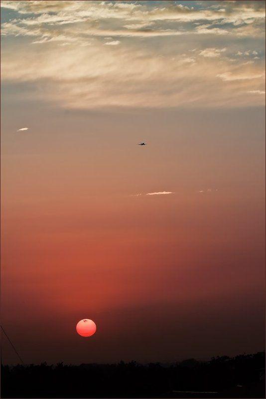 солнце, небе, самолёт Солнце, Небо, Самолётphoto preview