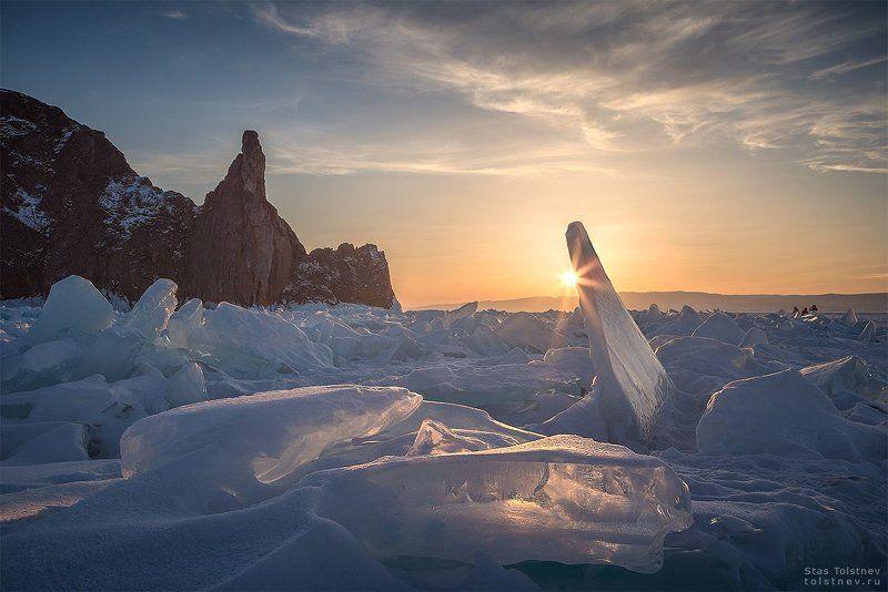 байкал, малое море, ольхон, лед, зима, хобой Мыс Хобой на Байкалеphoto preview