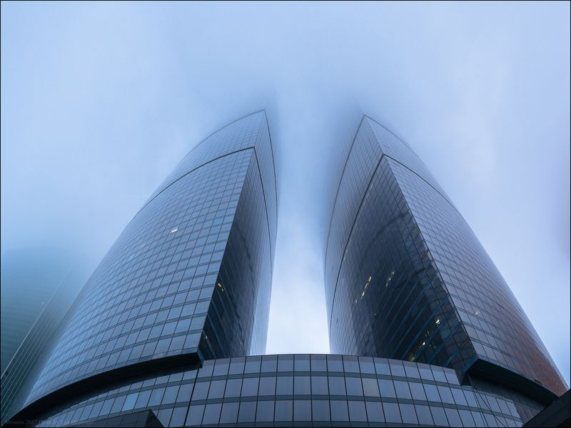 Россия, город, Москва, столица, Сити, туман, небоскреб, высотка, башня, Федерация Россия. Москва. Башня Федерация.photo preview