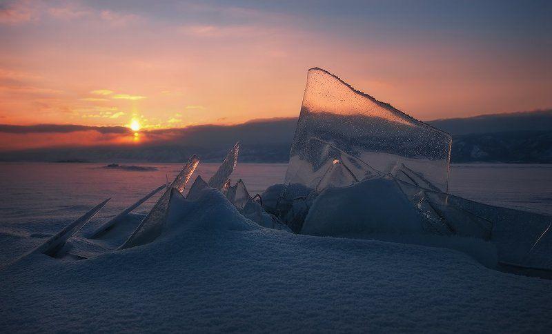 байкал, закат Маломорский закат…photo preview
