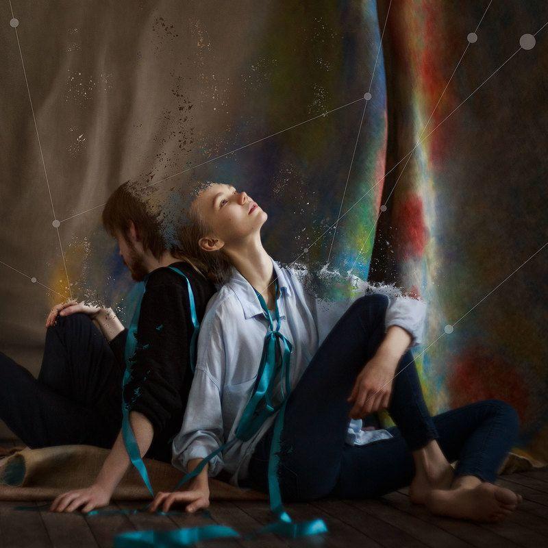 портрет, арт, девушка, абстракция Путьphoto preview