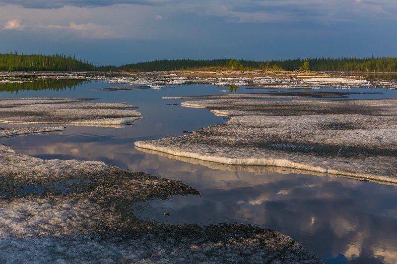 путорана, лед, север, весна, красноярский край, дюпкун, курейка Льды холодного летаphoto preview