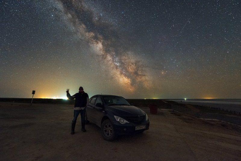 Млечный путь, Эльтон, озеро, Космос Привет Эльтон :)photo preview