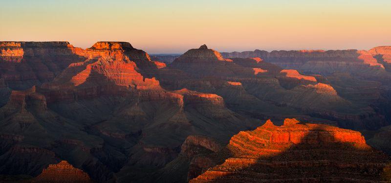 сша, пейзаж, аризона, другой мир, ночь, марс, закат, горы, каньон, гранд, парк Гранд Каньон на закатеphoto preview