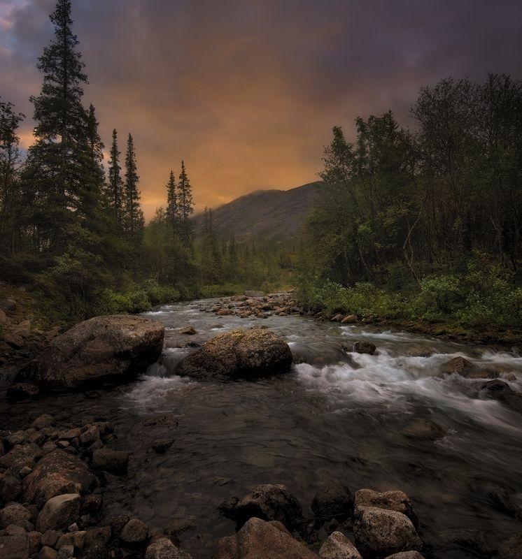 Закат, Хибины, Кольский полуостров, горы Хибиныphoto preview