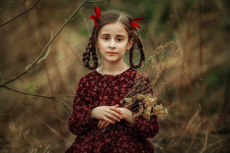 красота, природа, девочка, дети, детская съемка, платье, детство, улыбка, милая, фотосессия Каринаphoto preview