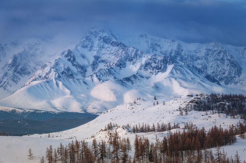 горы снег рассвет алтай зима ***photo preview