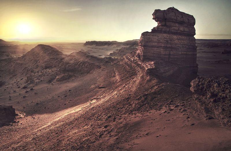 Закат в пустыне Гоби.photo preview