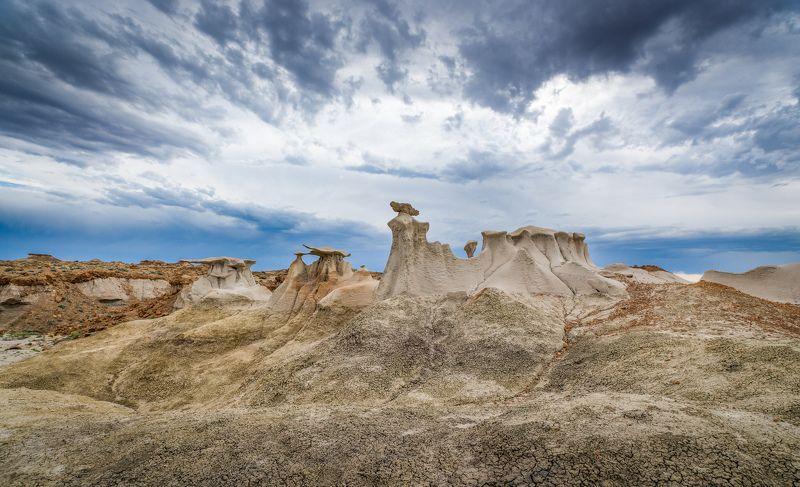 сша, пейзаж, нью мексико, грибы, бэдлэндс, другой мир, Грибыphoto preview