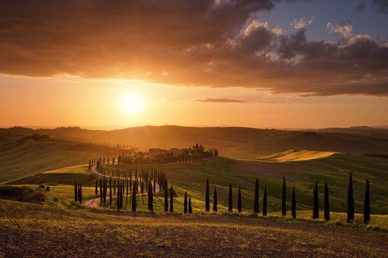 asciano, italy, tuscany, Asciano hills...photo preview