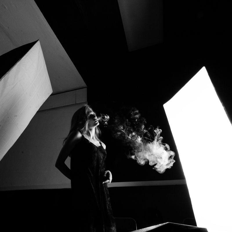девушка, свет, геометрия, релакс Relaxphoto preview