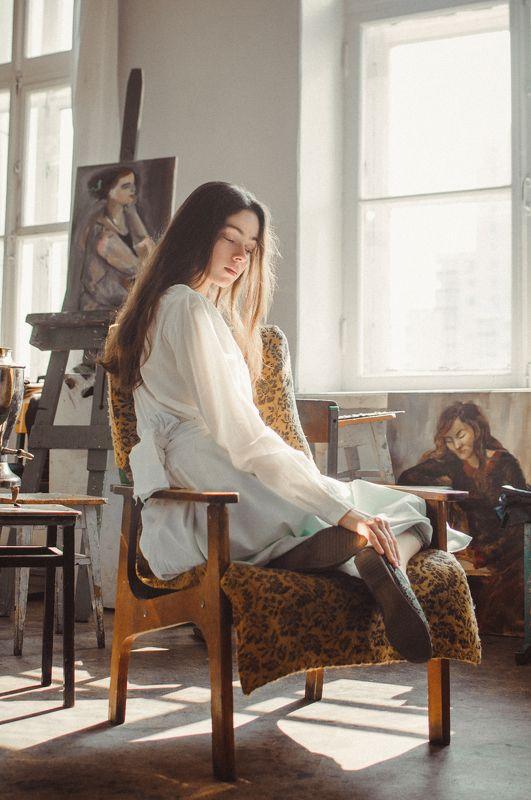 девушка, свет, геометрия, релакс, муза, художница Concordia / Гармония душиphoto preview