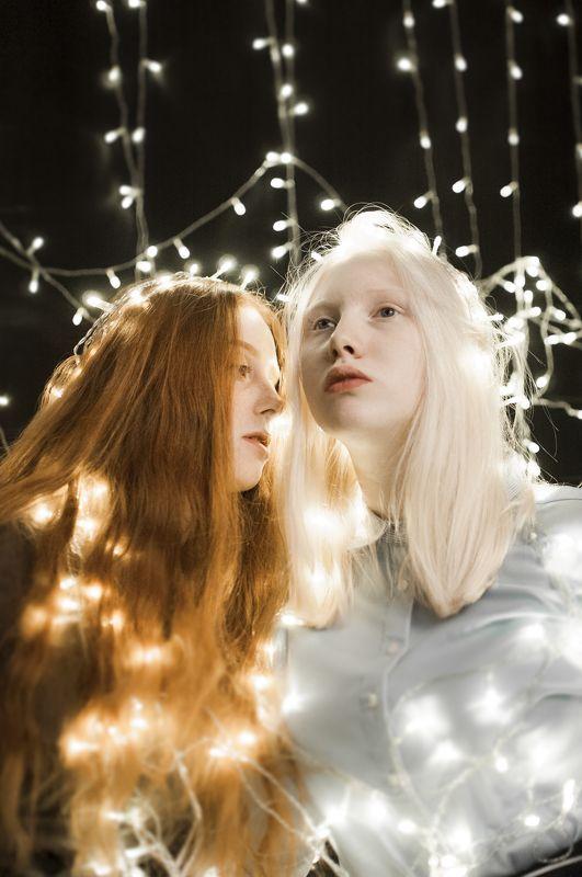 девушка, свет, космос, вдохновение, муза Starsphoto preview