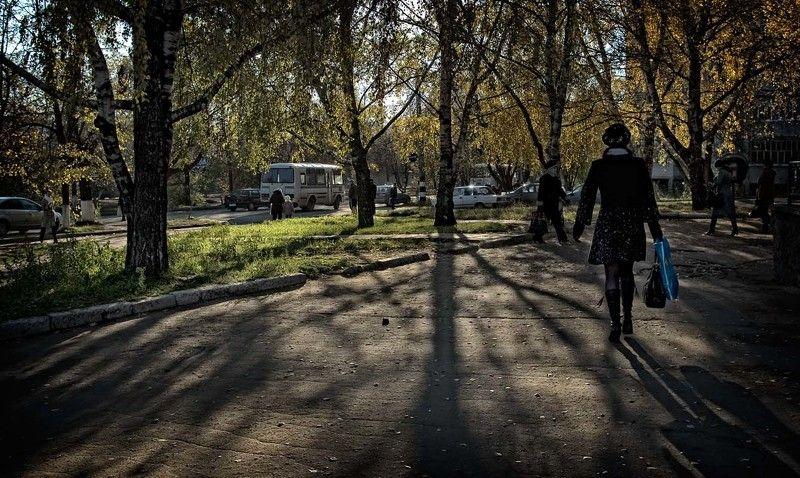 осень, город, листва, жёлтая Осень в городеphoto preview