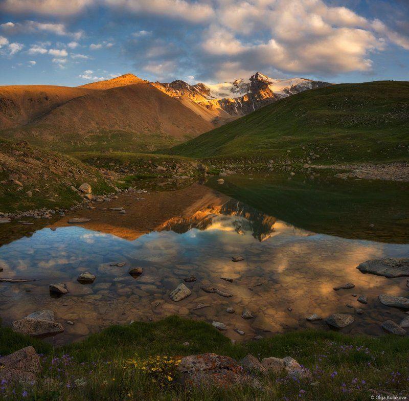 вечер, горы, лето, тургень, отражение, озеро Летний вечерphoto preview