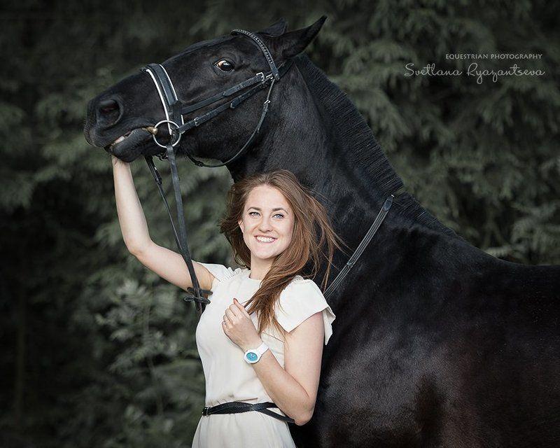 horse, portrait, портрет, лошадь, лошади, black Ира и Игримphoto preview