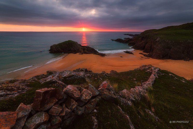 ireland, donegal, murder hole, landscape, beach, sunset, outdoor,  Murder Hole Beach - Irelandphoto preview