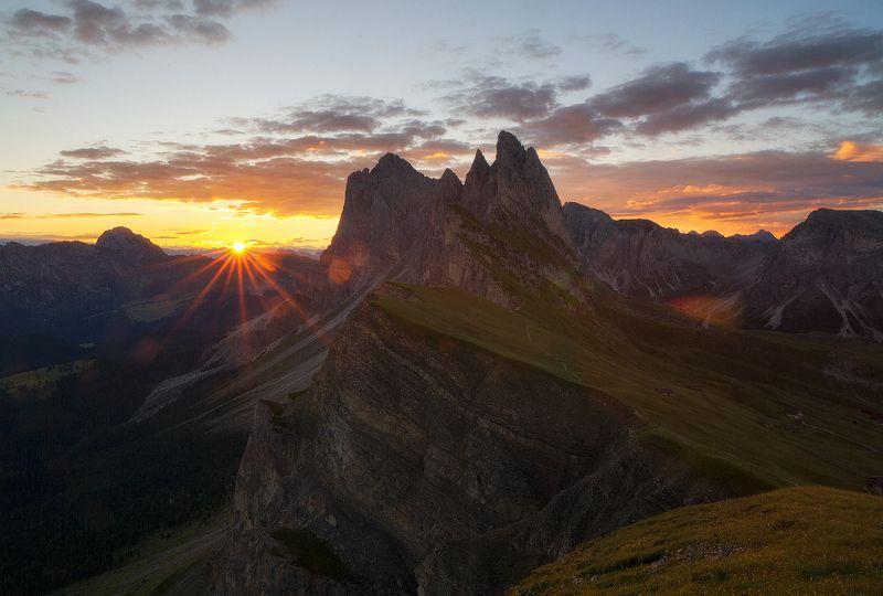 seceda, italy, dolomites Sunrise on Secedaphoto preview