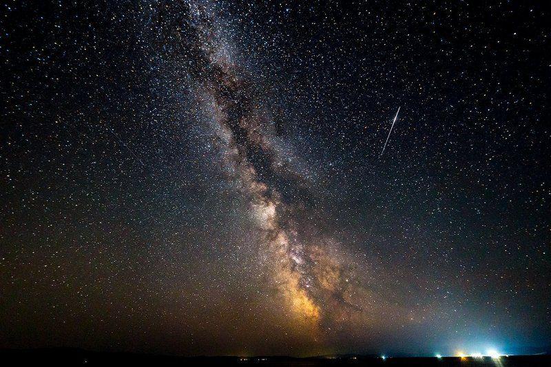 гусиное озеро, млечный путь Млечный путь над Гусиным озеромphoto preview