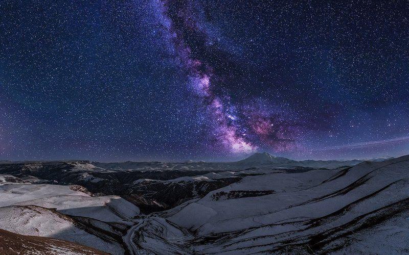 эльбрус,млечныйпуть, ночь, звёзды,зима, горы, Сны эльбрусаphoto preview
