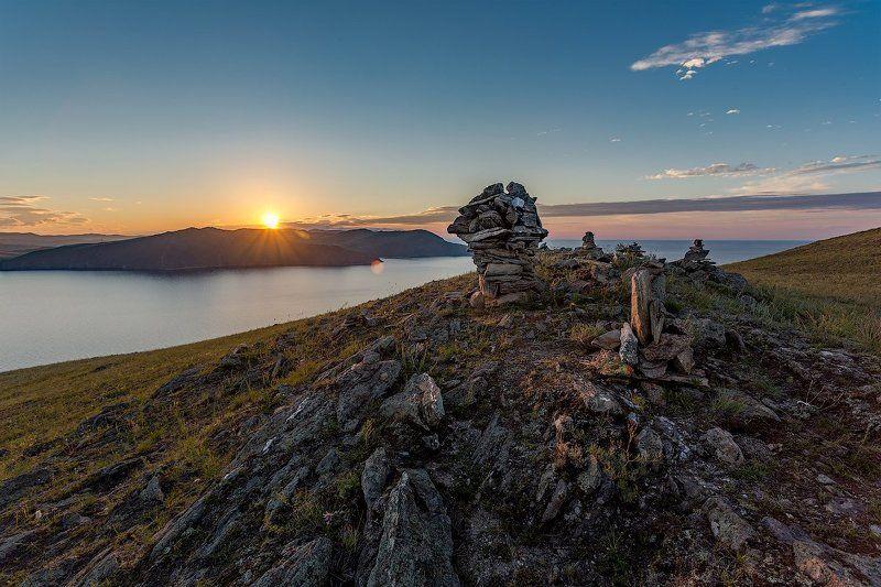 тутайский залив,малое море, Байкал Утро на малом море, Байкал photo preview