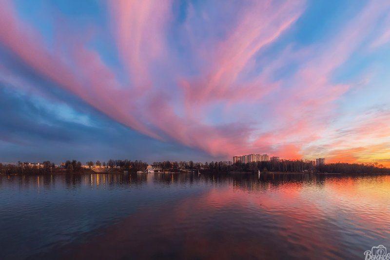 долгопрудный,закат,котовский залив,долгопа,подмосковье,московская область Закат на Котовском заливеphoto preview