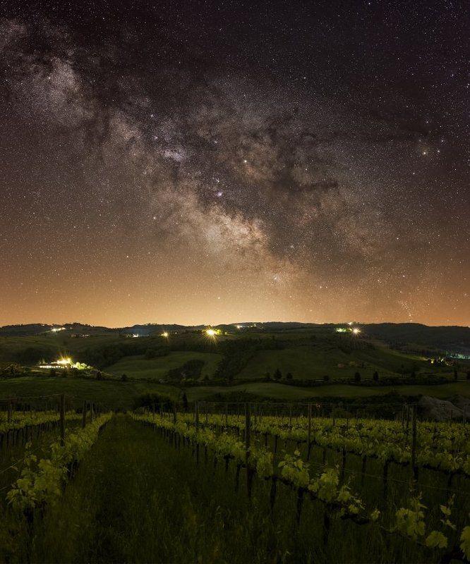 tuscany, toscana, milkyway, stars, galaxy, Tuscany starscapephoto preview
