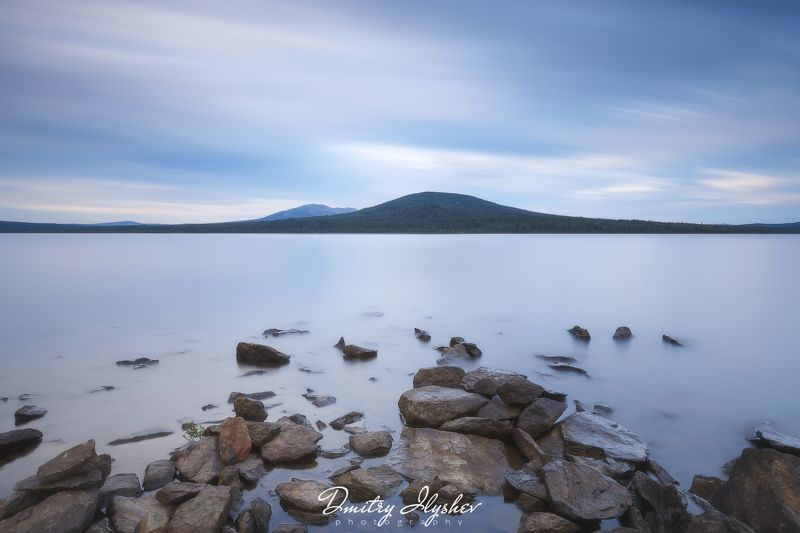 пейзаж, урал, озеро, зюраткуль, камни, длинная выдержка, южный урал, природа россии тишинаphoto preview