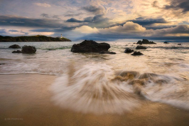 ireland, landscape, lighthouse, donegal, fanned head, sunrise, clouds, beach, wave,  Fanad Head - Lighthousephoto preview