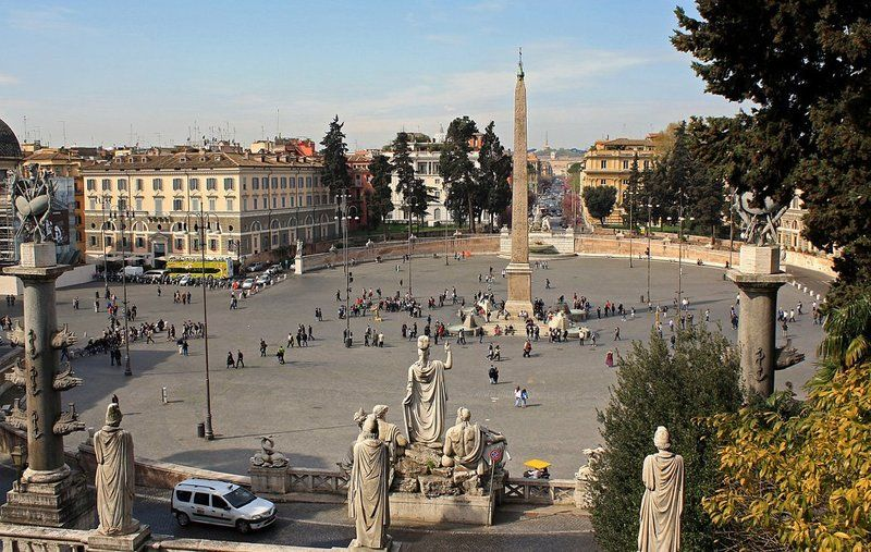 рим, италия, плошадь Piazza del Popolophoto preview