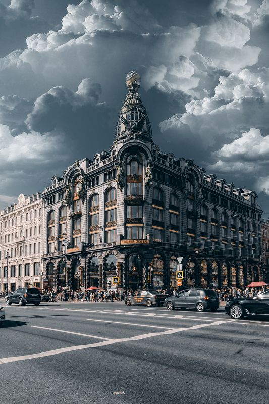 summer, russia, спб, лето, city, sky, небо, город, архитектура, интерьер Зингерphoto preview