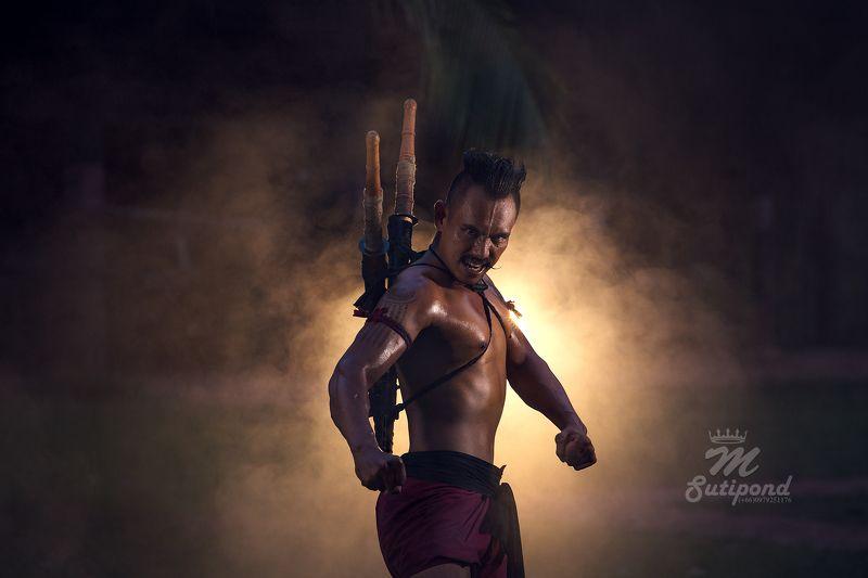 Thailand,portrait,fight,warriors,swords, Warriors in Ayutthaya history of Thailandphoto preview