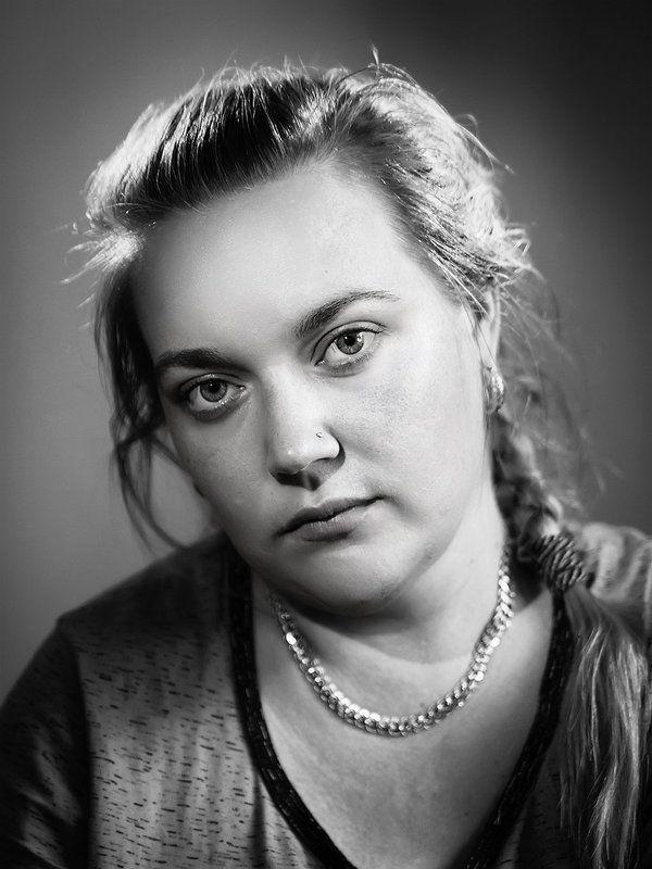 Портрет, чб, portrait, bnw, bw Портрет женыphoto preview