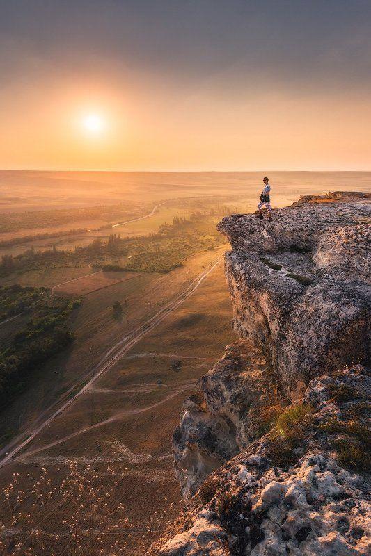 крым, горы, белая скала, скалы, пейзаж, природа, рассвет, закат, россия, путешествия, туризм Счастье чувствовать горыphoto preview