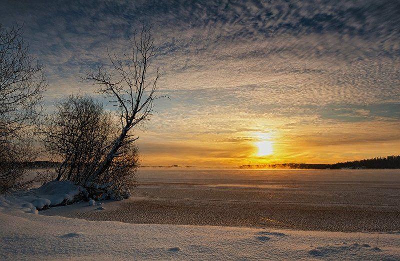 декабрь,зима,вечер,лед,снег,свет,пейзаж Декабрьскоеphoto preview