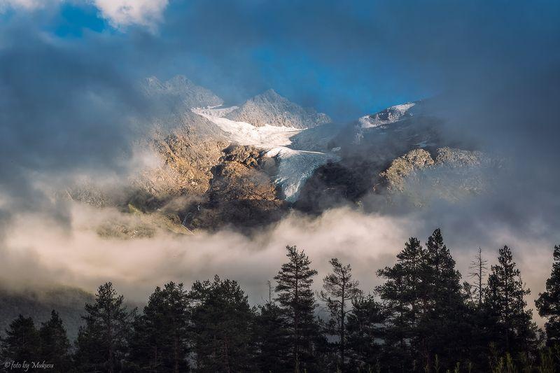 пейзаж, путешествия, горы, кавказ, закат, travel, landscape Приэльбрусье. У подножья гор.photo preview