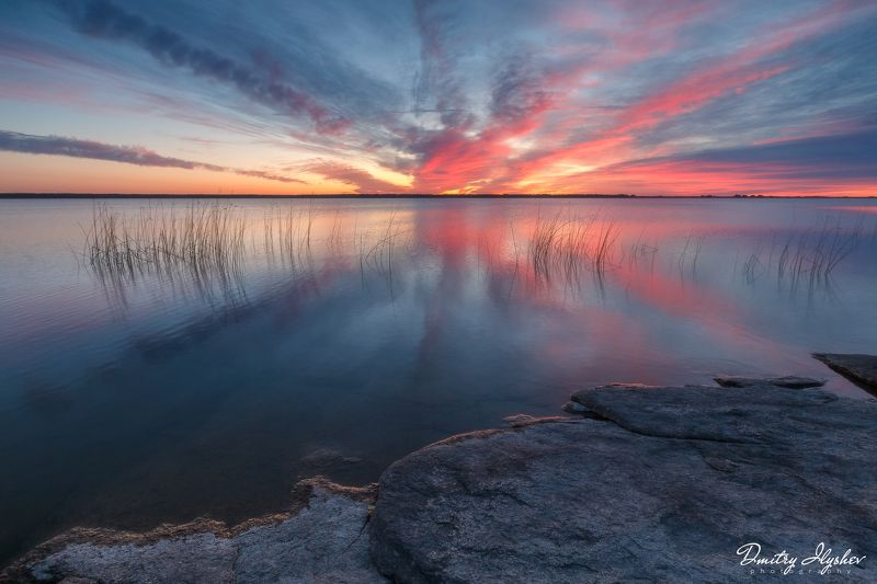 пейзаж, россия, рассвет, природа, челябинская область аллаки, урал, отражение, озеро звезда рассветаphoto preview