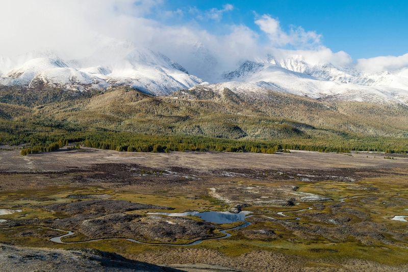 природа пейзаж алтай осень озеро снег утро Урочище Ештыкель...Алтай.photo preview