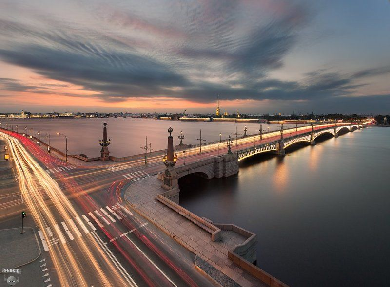 Троицкий мост, Нева, Петропавловская крепостьphoto preview