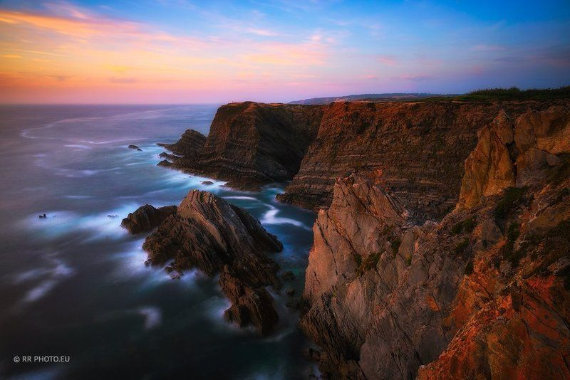 portugal, landscape, cliffs, outdoor, blue, nature,  Farol Cabo Sardao - Portugalphoto preview