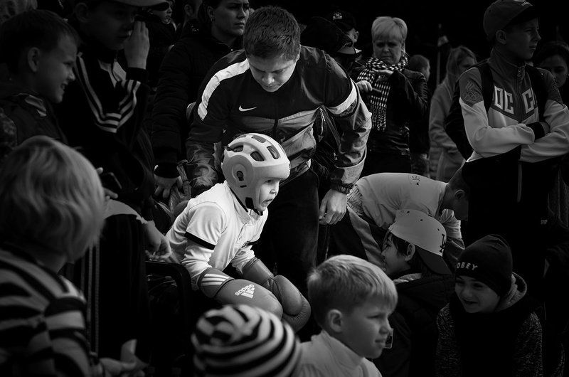Дети, спорт, кикбоксинг Боец...photo preview