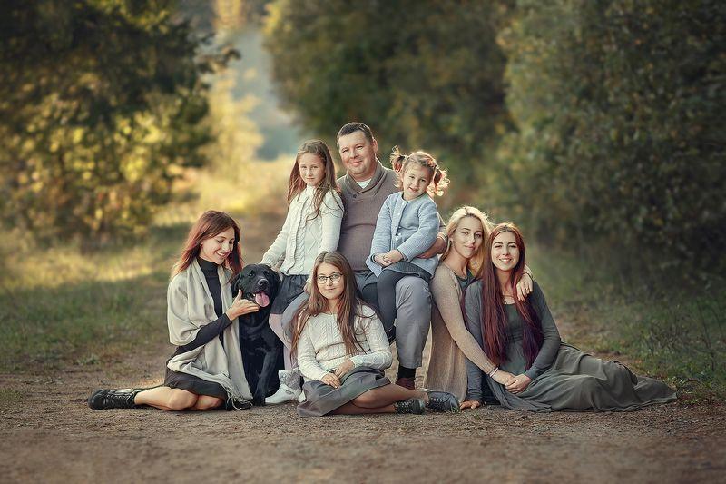семья, портрет, дети Отец 6 лапочек дочек и одного маленького сыночка!photo preview