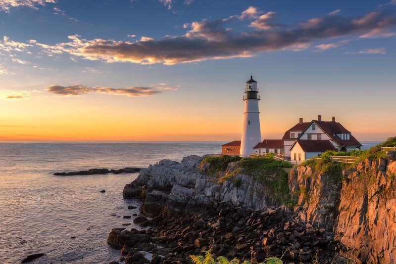 Lighthouse at sunrisephoto preview