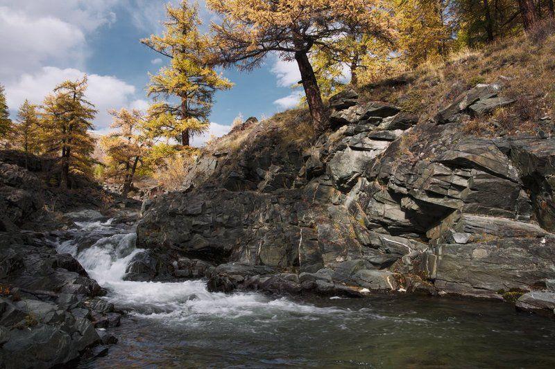 путешествия, водопад, алтай, туризм, исследование, пейзаж, горы, река, хайкинг Горный Алтайphoto preview
