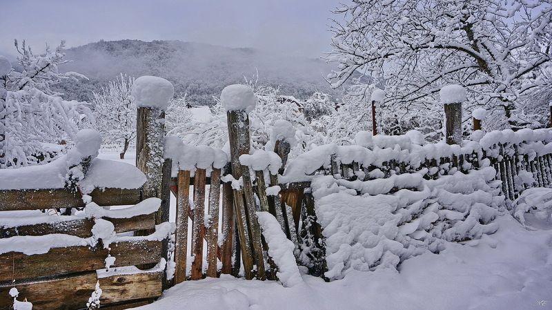 зима забор Задворкиphoto preview